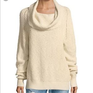 Free People Cowlneck Cream Sweater XS